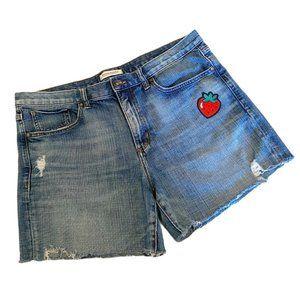 Banana republic boyfriend cut off jean shorts